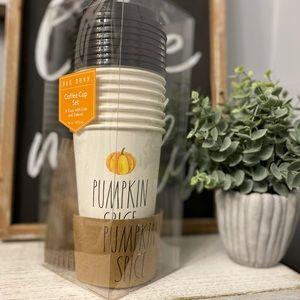NWT Rae Dunn PUMPKIN SPICE Coffee Cup Set